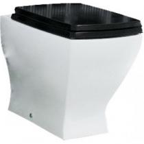 Унитаз приставной ArtCeram Jazz JZ03 36x54, черное сиденье, горизонт. выпуск