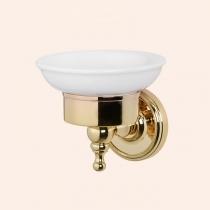 TW Bristol 106 мыльница подвесная, керамическая (белый), цвет держателя: золото