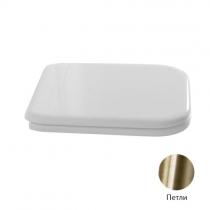 Kerasan Waldorf Сиденье для унитаза, цвет белый/бронза, микролифт