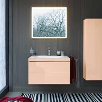DURAVIT L-Cube Комплект мебели,   Тумба C-bonded раковина белая с фронтом, 80смцвет: абрикос жемчужный