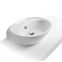 Умывальник Simas Bohémien 60x45,5 см без отверстия под смеситель, белый, BO11
