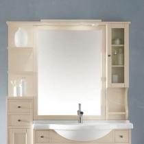 EBAN Eleonora Modular DX Зеркало в раме 107*104h со шкафчиком cправа и полочками слева, цвет: pergamon