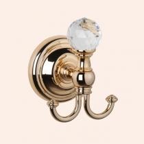 TW Crystal 016, крючок для полотенца, цвет: золото с кристаллом (swarovski)