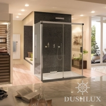 Huppe Design Раздвижная дверь, 1 секция с неподвижным сегментом и 2 боковые стенки 080578