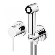 Gattoni PD Встроенный гигиенический душ, с кнопкой на лейке, хром