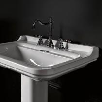 Kerasan Waldorf Раковина керамическая 120х55см, c 3 отверстием под смеситель, белая, цвет заглушки - хром