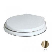 AZZURRA Giunone-Jubilaeum сиденье для унитаза белое/бронза