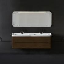 KERASAN Waldorf Комплект подвесной мебели 150 см  Цвета: noce с двойной раковиной