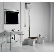 KERASAN Waldorf Консоль с раковиной 100 см цвета консоли: cromo (хром)