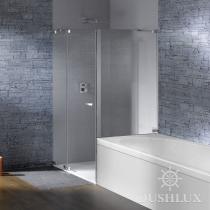 Huppe Studio Распашная дверь с неподвижным сегментом и укороченной боковой панелью на ванне 070529