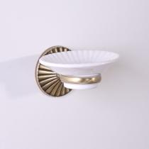 TW Retro Opal Мыльница керамическая, цвет держателя бронза