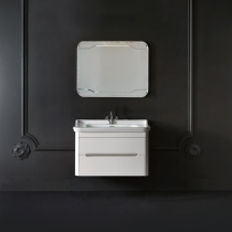 KERASAN Waldorf Комплект подвесной мебели 80см с 1 ящиком и 1 дверцей, Цвет: bianco matt.
