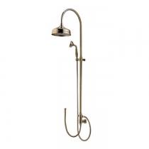 Gattoni PD Душевая колонка с верхним душем 200мм и ручной лейкой, цвет бронза