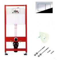 TECEbase Модуль (4в1) в комплекте: крепеж; панель смыва TECEnow, хром; звукоизоляция 9400012 (ст.арт.K400401) (без дист. рамки 9240411)