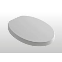 KERASAN Cento сиденье овальное цвет белый, шарниры хром микролифт