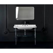 Kerasan Waldorf Металлическая структура для раковины 120см, со стеклянной полочкой, цвет хром с раковиной