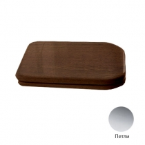 Kerasan Waldorf Сиденье для унитаза, цвет noce/хром, микролифт