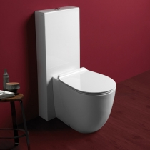 SIMAS Vignoni унитаз-моноблок безободковый 56*36,5см, слив универсальный, с бачком и белым сиденьем на выбор