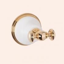 TW Harmony 016, крючок для полотенца, цвет держателя: белый/золото