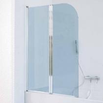 SAMO FDT Штора на ванну 105-107хh140cм, SX/DX, проф. хром, прозрачное стекло