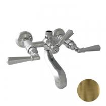 """Nicolazzi Teide Смеситель для ванны на 2 отверстия, с переключателем ванна/душ, вывод сверху 3/4"""" (для душ. стойки), цвет: бронза"""