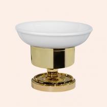 TW Bristol 160, настольная мыльница, керамическая (белый), цвет держателя: золото