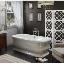 TW 180, ванна 180*85*h63см, в комплекте сл-переливом click-clack и сифоном, материал: акрил, цвет ванны белый/цвет слива хром