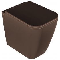GLOBO Stone Унитаз напольный 52*36см, с системой скрытого крепежа, слив универсальный, цвет Castagno сиденье на выбор