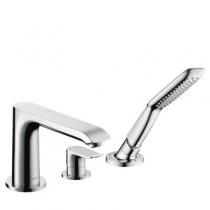 Врезной смеситель для ванны Hansgrohe Metris 31190000 на 3 отв.