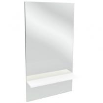 Зеркало Jacob Delafon Struktura EB1212-N18 59x107.2 с полкой, белый
