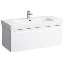 Шкафчик под умывальник Laufen Pro S 483552 101x45x39, выдвижной ящик и доп. отсек, белый