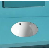 Умывальник Simas Blanco 42,5x42,5 см встраиваемый, без отверстия под смеситель, белый, S54