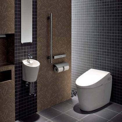 TOTO Neorest AH Унитаз приставной 389x705x547 мм, 4.8/3.4л, безободковый, выпуск в стену, Tornado Flush, CeFiONtect, цвет: белый с сиденьем