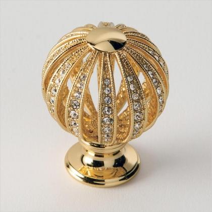 EBAN Mongolfiera ручка для мебели с кристаллами Swarovski, Цвет: золото