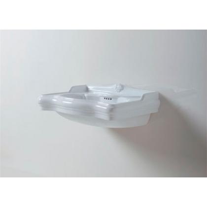 AZZURRA JUBILAEUM раковина со спинкой 50*35см c 1 отв под смеситель - слева , цвет белый