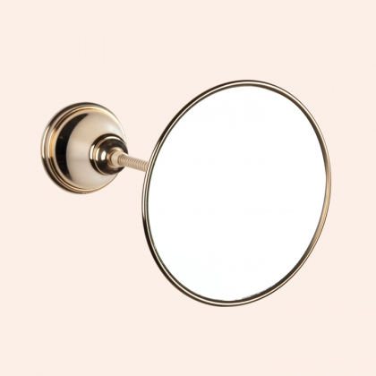 TW Harmony 025, подвесное зеркало косметическое круглое диам.14см, цвет держателя: золото