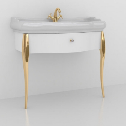 KERASAN Retro Комплект мебели 100см, Цвет: bianco/oro