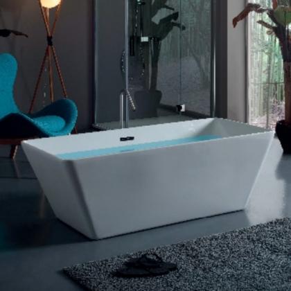 KERASAN Ego Ванна свободностоящая акриловая  160х70х55см в комплекте со сливом Clic-clac, цвет белый