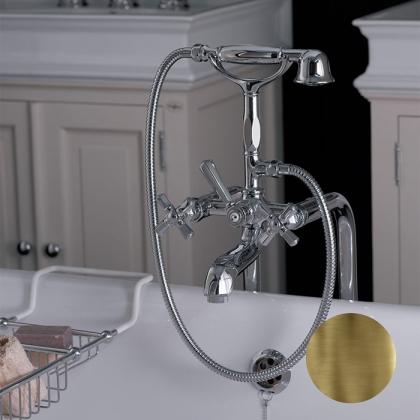 Nicolazzi Teide Four Смеситель для ванны на 2 отверстия, с душевой лейкой и шлангом, цвет: бронза