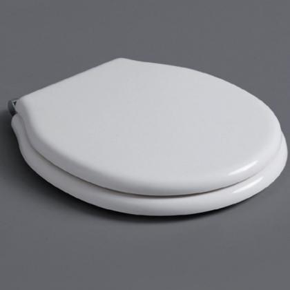 SIMAS Londra Сиденье для напольного унитаза, цвет белый, петли хром(микролифт)