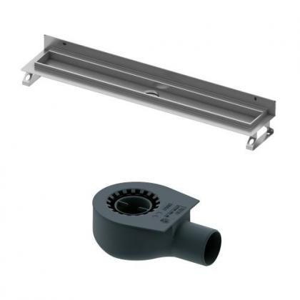 Tece drainline, Комплект для установки дренажного канала 1200 мм из нержавеющей стали, для пристенного монтажа