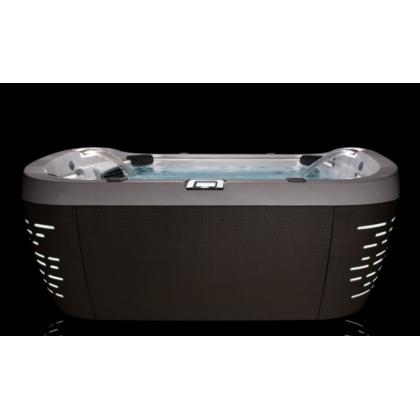 JACUZZI SPA J585 Минибассейн 231х231х92 см,обшивка Curvalux Silver ,, система подсв. Pro Edge, водопад, подгол. 4 шт. сенс. пульт упр., система обр. воды у/ф-м Clear Ray, крышка чехол, дополн. утепление Smart Seal, система быстрого слива воды, эл.нная сис