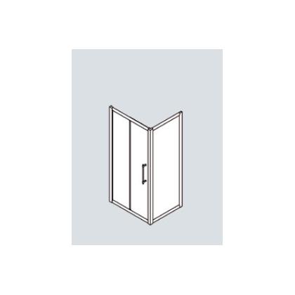 SAMO Impero Душевой угол 120x80х200cм, проф. и ручка бронза, стекло прозрачное + StarClean