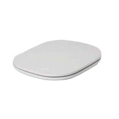 AZZURRA GLAZE Сиденье для унитаза, цвет белый, шарниры хром (микролифт)
