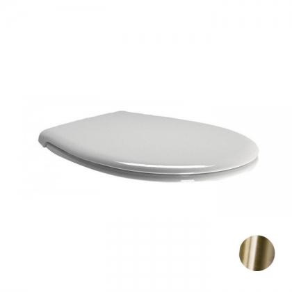 GSI Classic Сиденье для унитаза, цвет белый/бронза (микролифт)
