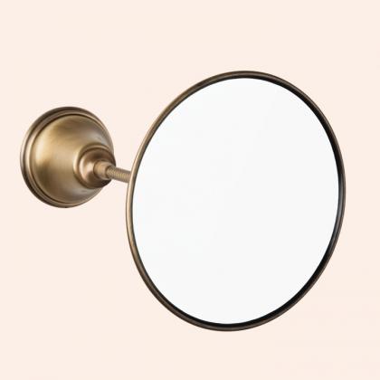 TW Harmony 025, подвесное зеркало косметическое круглое диам.14см, цвет держателя: бронза