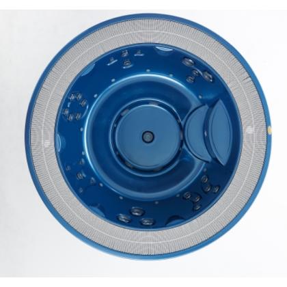 JACUZZI ALIMIA Минибассейн D237х98 см,цвет акрила Platinum  (65) встраеваемый без компенсац.бака