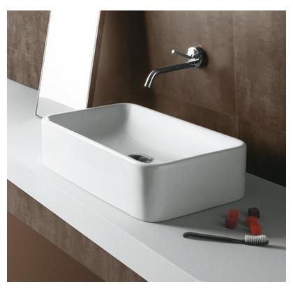 Умывальник-чаша Simas Flow 53x32 см, прямоугольный, белый, FL12