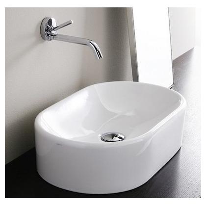 Умывальник-чаша Simas Flow 52x32 см, овальный, белый, FL13