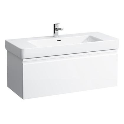 Шкафчик под умывальник Laufen Pro S 483552 101x45x39, выдвижной ящик и доп. отсек, белый глянец